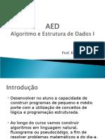 AED I - Aula 01 - Introdução v2