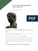 5 Lecciones Que Las Personas Emprendedoras Deben Aprender de Julio César