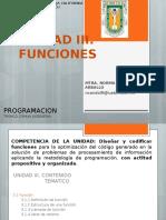 Unidad III Funciones