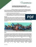 Monthly Achievement Report Quepos Jan 2016