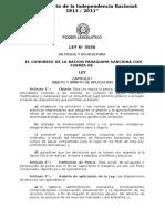 Ley 3556 de Pesca y Acuicultura 2008
