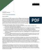 Cecilia Martinez Letter to US Attorney
