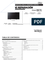 Sony Kdl-32r425a Chassis Rb1tk Ba Sm