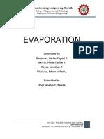 Culminating Project Evaporation