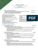 brad marks teaching resume