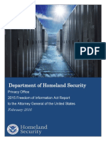 U.S. Department of Homeland Security FOIA Annual Report FY 2015