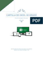 Cartilla de Excel 10 Grado