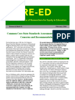 Common Core State Standards Assessments in California- Concerns and Recommendations