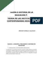 Teoría e historia de la educación.