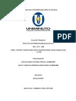 Plan de Trabajo Alfabetizacion Centro Comunitario Jesus Maestro Sabado 9 a 1
