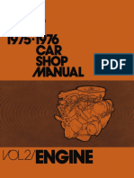 1975-76 Ford Car Shop Manual Volume II Engine