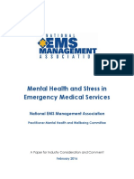 Mental Health and Stress in Emergency Medical Services