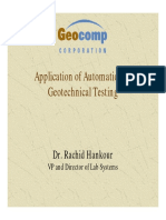 Application of Automation In Geotechnical Testing