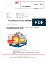 Cal-144 San Fernando - Chincha Mantenimiento Preventivo a La Caldera 200 Bhp