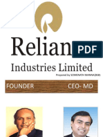 Presentation Reliance Industries Limited