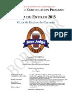 Guía de Estilos de Cerveza BJCP 2015