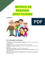 Sintesis de Periodo Afectividad