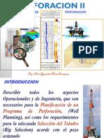 PROGRAMAS DE PERFORACIÓN