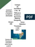 Geografía Fenómeno del niño