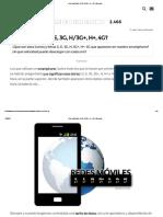 ¿Qué significa G, E, 3G, H_3G+, H+, 4G_ _ Emezeta