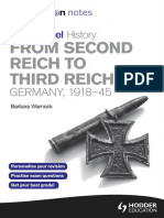 My Revision Notes Edexcel as History From Second Reich to Third Reich - Warnock, Barbara [SRG]