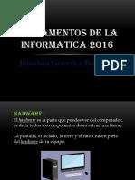 Fundamentos de La Informatica 2016 Jonatan Gonzalez