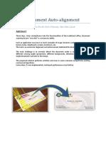 Document Auto Alignment