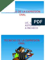 Técnicas de La Expresión Oral
