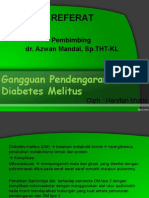 Gangguan Pendengaran Pada Diabetes Melitus