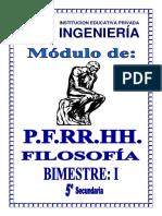 PFRH - FILOSOFIA 5º SEC - I BIMESTRE