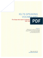 Speaking Vocabulary for Ielts