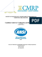 SMRPCO Candidate Guide for Certification Recertification SMRPCO Candidate Guide for Certification Recertification Feb 14 2012