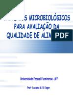 Criterios Microbiológicos Para a Avaliação da Qualidade de Alimentos