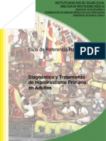 Guia de referencia rapida de Hipotiroidismo primario