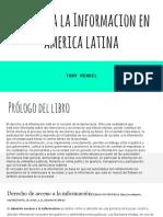 Resumen Derecho a La Información en América Latina