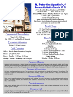 St. Peter the Apostle Bulletin 3-20-16