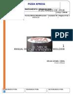 Manual de Procedimientos Pizza Xpress