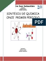 Sintesis de Quimica Once Primer Periodo