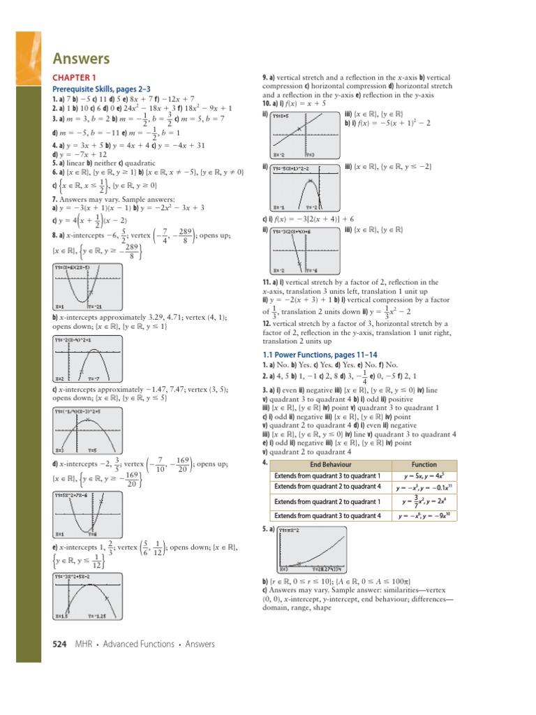 advanced functions 12 answers mathematics physics mathematics rh es scribd com
