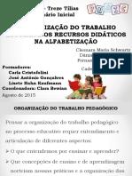 organizaÇÃo do trabalho pedagOgico