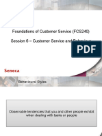 Foundations of customer service Ch9