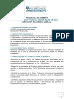 Programa Diplomado Catedra de La Paz