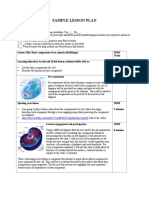 Sample microteaching lesson plan - Science