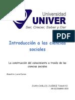 Ensayo introducción a las ciencias sociales