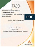 Emissao Certificado - Oficina de Lingua Portuguesa II