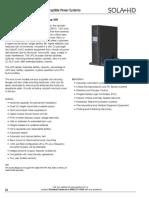 Sola Hevi Duty S4K2U2000 C Datasheet