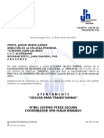 Carta de Presentación Practicas de Observación