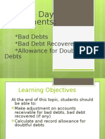 Chapter 2- Bad Debt