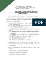 Criterios Generales Percusiones 2015
