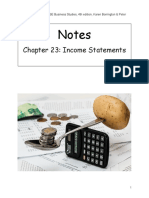 Chapter 23 Income Statement